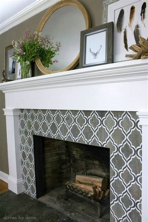Lined Fireplace Tiles by A Heading To Vegas Driven By Decor