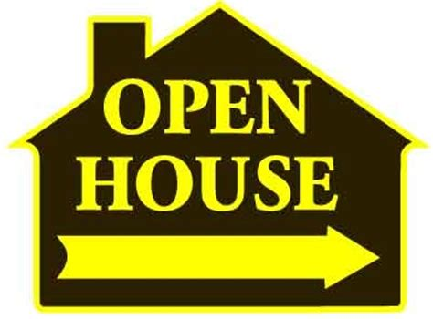 buy open house signs yellow open house sign shaped like a house