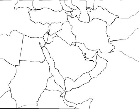 middle east map to color middle east map coloring pages