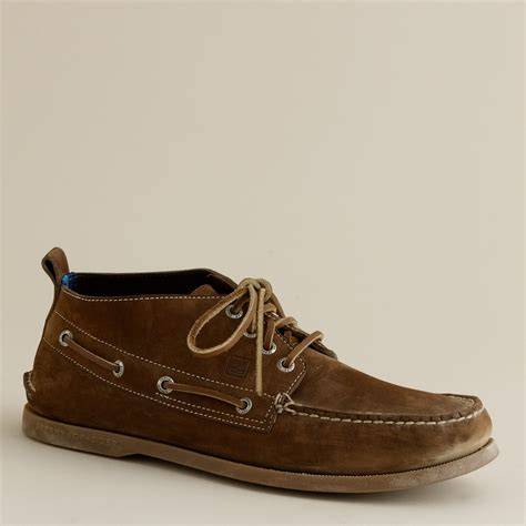 sperry chukka boot lyst j crew sperry top sider 174 for j crew authentic