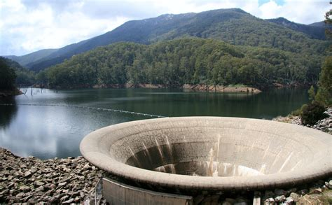 lake berryessa drain geehi pond outlet the huge outlet overflow tunnel at the