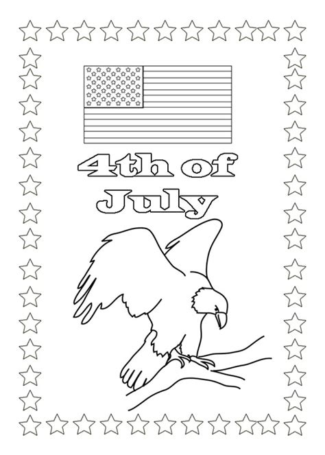 american flag and eagle fourth of july coloring page for coloring pages for independence day