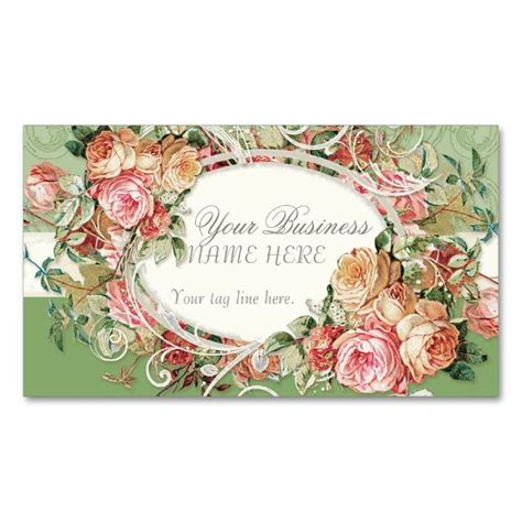 free vintage floral business card template 2198 best floral business card templates images on