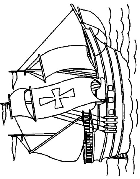 Mayflower Thanksgiving Coloring Pages Mayflower Coloring Page