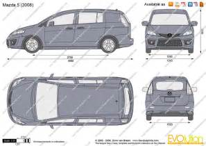 the blueprints vector drawing mazda 5