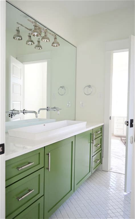 green vanity bathroom i like to furnish furnish young house love