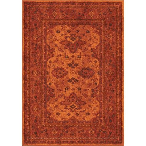 Orange Area Rug 5x8 3005 5x8 Orian Rugs 3005 Ethnicagra Orange Area Rug 5 3 Quot X 7 6 Quot Goingrugs