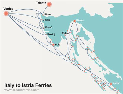ferry venice to croatia italy to istria croatia ferry map croatia ferries