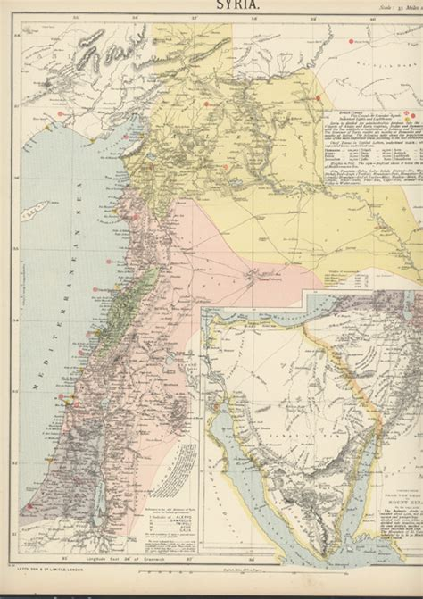 middle east map dead sea antique print club syria antique map with dead sea to