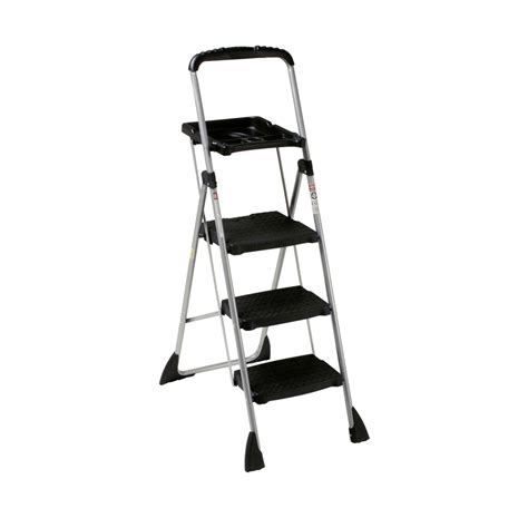 3 Step Stool Ladder shop cosco 3 step steel step stool at lowes
