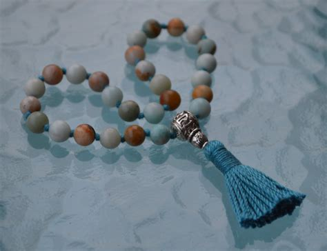 Rosary Detox Phone Number by Genuine Amazonite Pocket Knotted Prayer Healing
