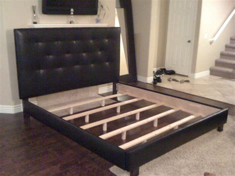 How To Build A California King Bed Frame King Or Cal King Black Button Tufted Headboard And Bed By Lilykayy