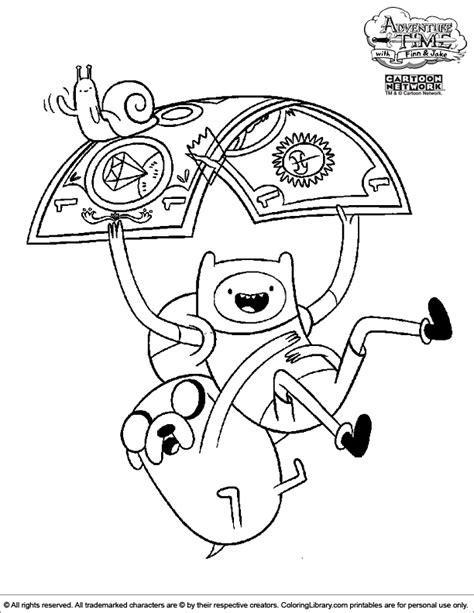 Adventure Time Coloring Picture Times Coloring Pages