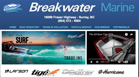 wakeboard boat dealers vancouver tige boats welcomes breakwater marine as a new dealer