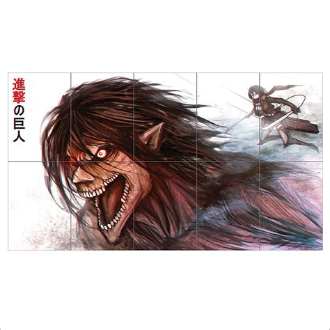 Attack On Titan Giants Ukuran S attack on titan anime shingeki no kyojin block wall poster
