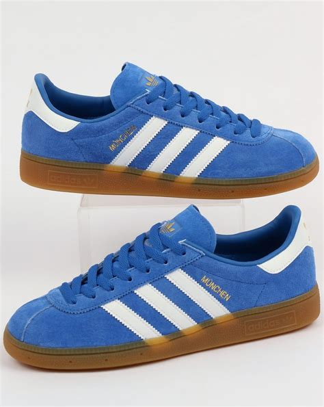 adidas munchen adidas munchen trainers blue white shoes originals mens