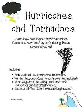 hurricane  tornado reading comprehension  eclectic