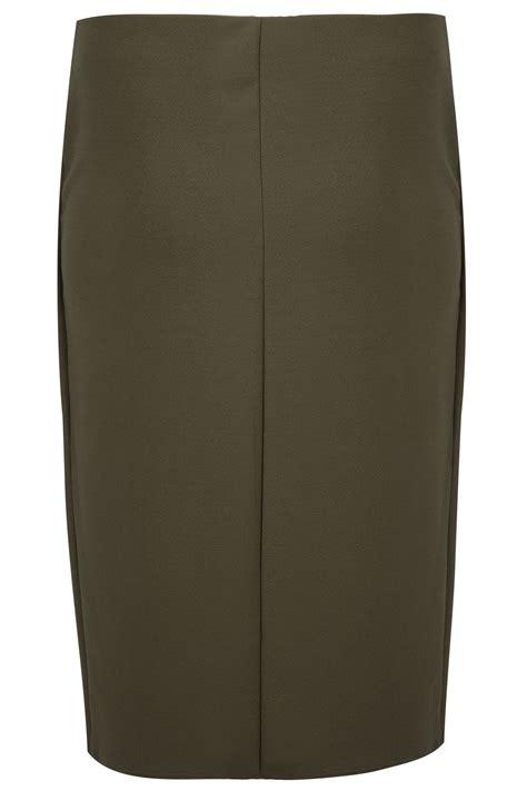 khaki wrap from pencil skirt plus size 16 to 32