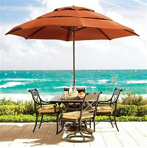 Frontgate Patio Umbrellas Patio Umbrellas And Outdoor Parasols Best Picks For 2008 By Designer Lillian Pikus