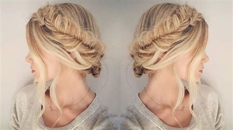 easy hairstyles with box fishtales tutorial super easy version of the fishtail halo braid