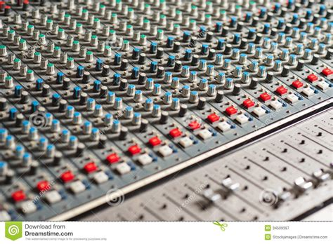 Audio Mixer Belt Up detailed professional audio mixer royalty free stock