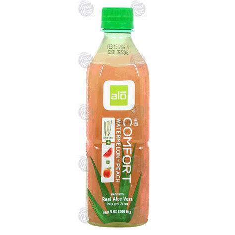 alo comfort alo comfort aloe vera watermelon peach 25 juice 16 9fl