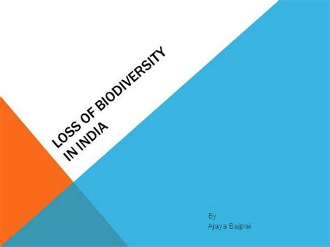 Loss Of Biodiversity Authorstream Biodiversity Ppt Template Free