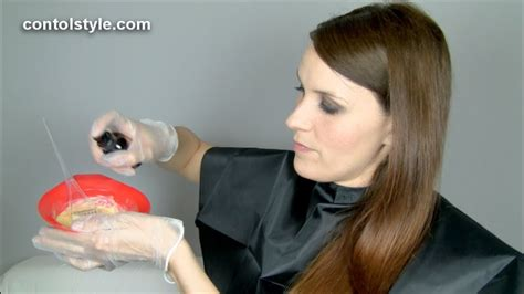 aplicacion de  tinte de peluqueria youtube