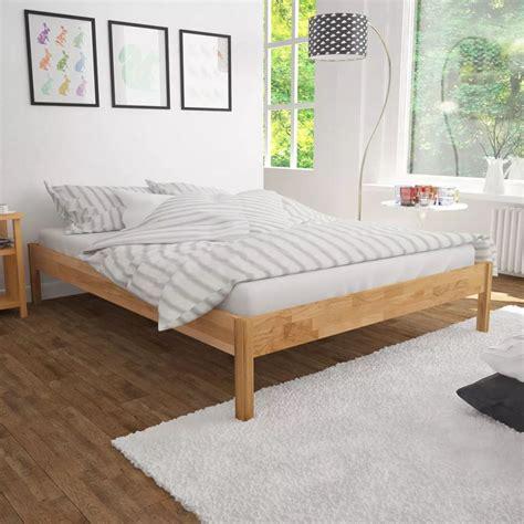 Bedcover Bedcover Carmina 180x200 vidaxl bed frame solid oak 180x200 cm vidaxl co uk