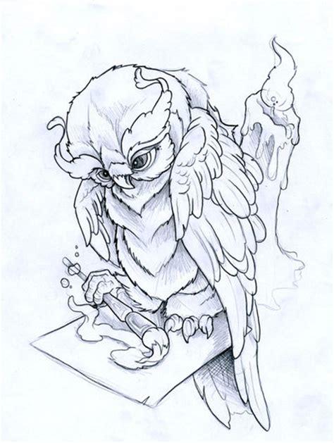 owl tattoo design drawing painting owl by joshdixart on deviantart