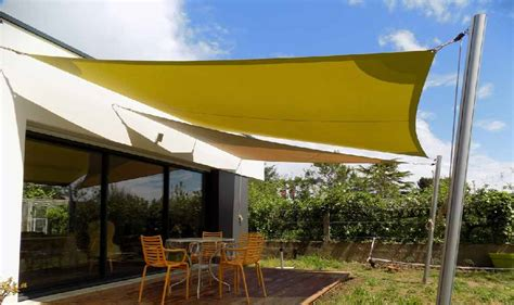 Terrasse Voile D Ombrage by Voile Terrasse Pose Voile D Ombrage Exoteck