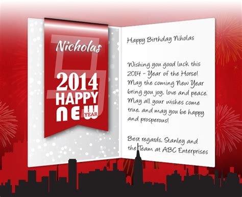 new year greetings to business associates professional new year ecards for business