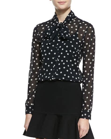 print tie neck blouse valentino print tie neck blouse