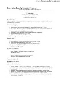 Information Security Consultant Sle Resume by Information Security Resume Sle Information Security