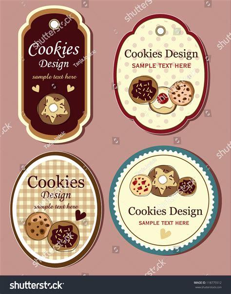 design label cookies cookies label stock vector 118775512 shutterstock
