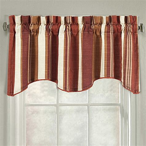 bed bath and beyond valdosta ga j queen new york valdosta stripe scallop window valance
