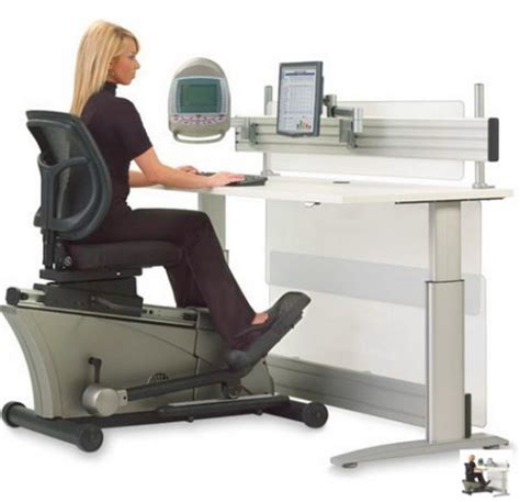 Improve Productivity And Well Being With Fitness Elliptical Machine Office Desk