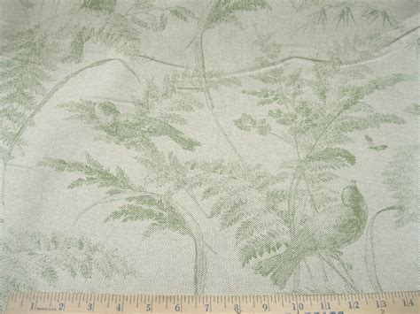 Chic Upholstery Fabric by Discount Fabric Premier Shabby Chic Green Floral
