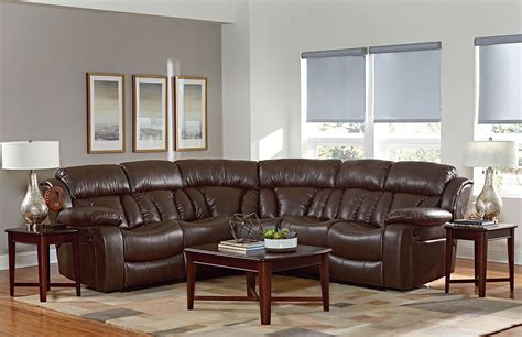 Brown Shore shore chocolate brown reclining sectional from
