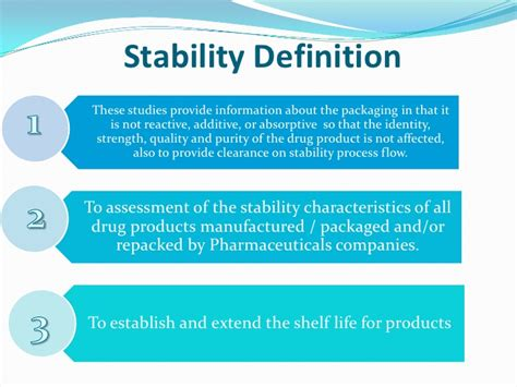 what is the definition of sectionalism stability tests for pharmaceutical products