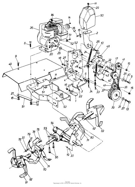 craftsman tiller parts diagram mtd sears model 247 298711 parts diagram for parts