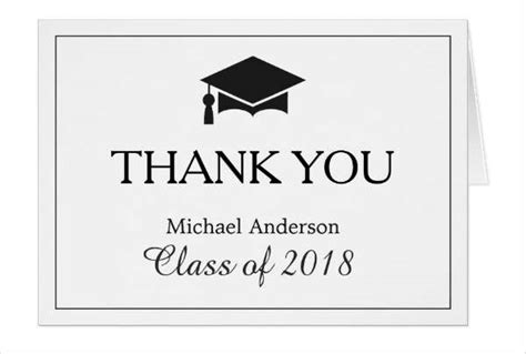 thank you card template graduation gift card designs free premium templates