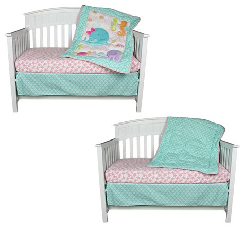 Sea Sweeties 3 Piece Baby Crib Bedding Set By Belle Starfish Crib Bedding