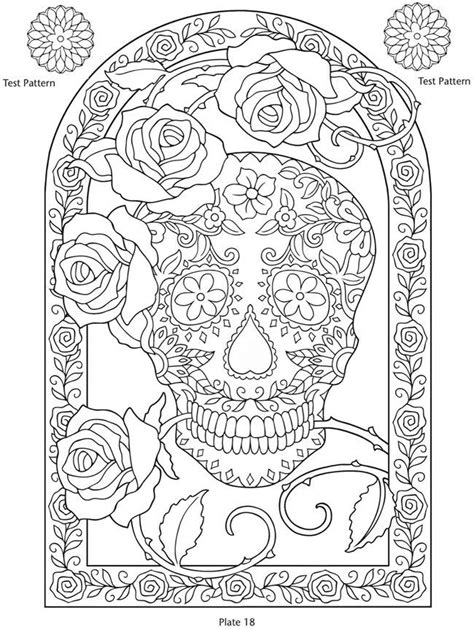 Day Of The Dead Skull Coloring Pages Coloring Home Day Of The Dead Altar Coloring Pages