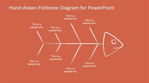 Hand Drawn Fishbone Diagrams Template For Powerpoint Fishbone Analysis Template Ppt