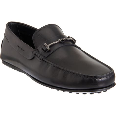 tods loafer tod s city gommino t bit loafer in black for lyst