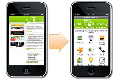 versione mobile get a mobile website pixel freeway