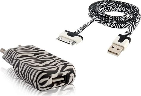 Zebra Iphone To Usb Extension forever zebra usb travel charger for iphone 4 4s skroutz gr