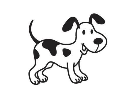 imagenes para dibujar un perro dibujo de un perro d 225 lmata para colorear