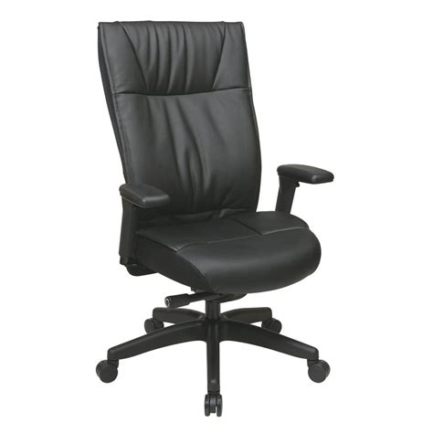 Office Chairs Lowes Shop Office One Space Black Leather Executive Office